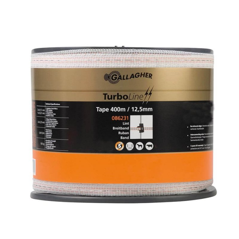 Gallagher 12,5 mm breites Weidezaunband TurboLine