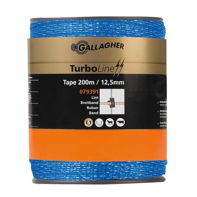Gallagher Weidezaunband TurboLine 12,5 mm in blau (200 m)